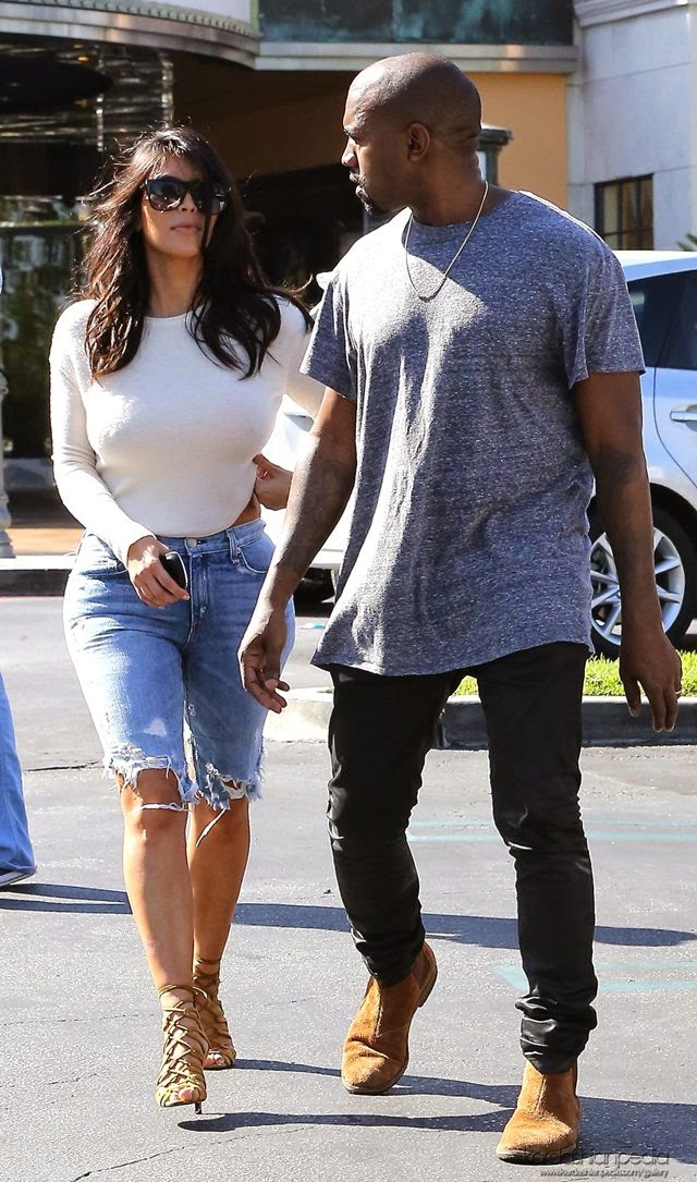 Kim Kardashian in Shorts, Leaving a Movie Theater in Calabasas