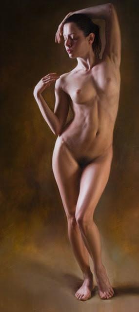 Desnudos Femeninos Al Oleo Mujer