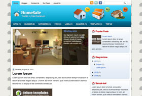 HomeSale Blogger Template