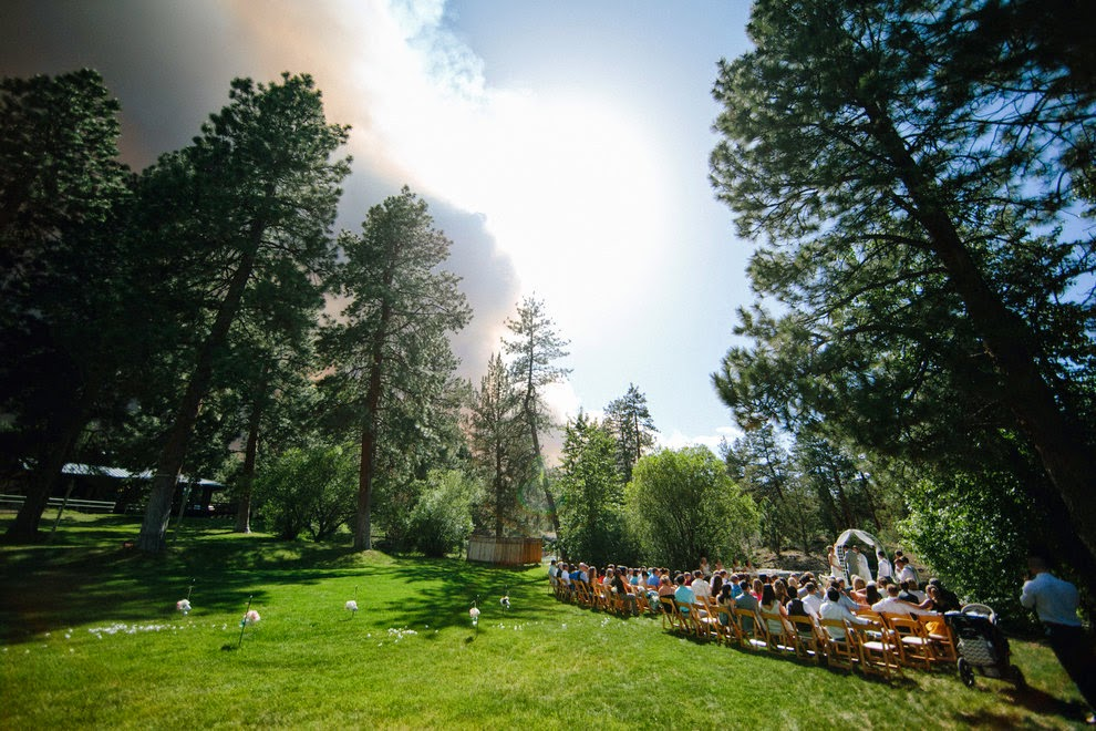 Michael & April's Wedding Venue before the wildfire