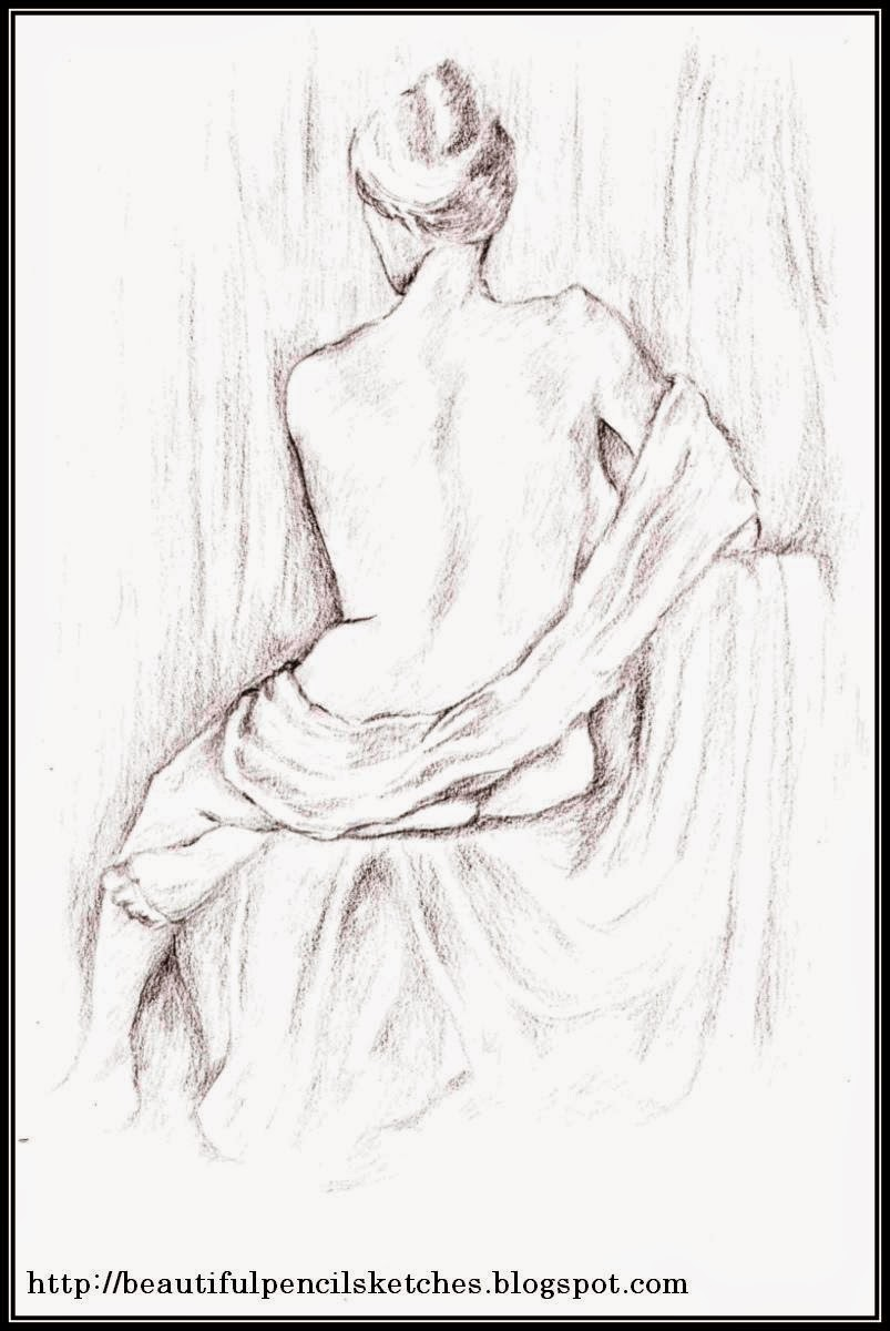 I used 2b 4b and black color pencils for drawi8ng the female figure