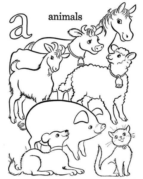 Farm Alphabet Coloring Pages