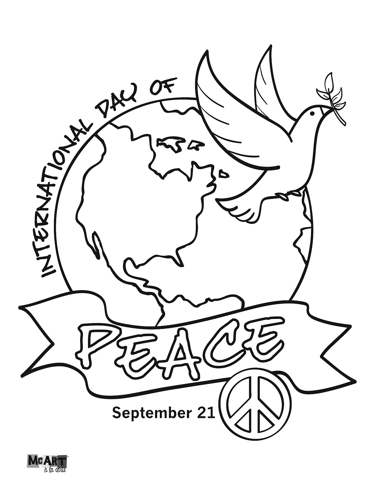 World Peace Coloring Pages 14 Image Colorings Net Peace Day Coloring Pages