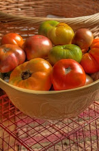 A variety of our Heirloom tomatoes