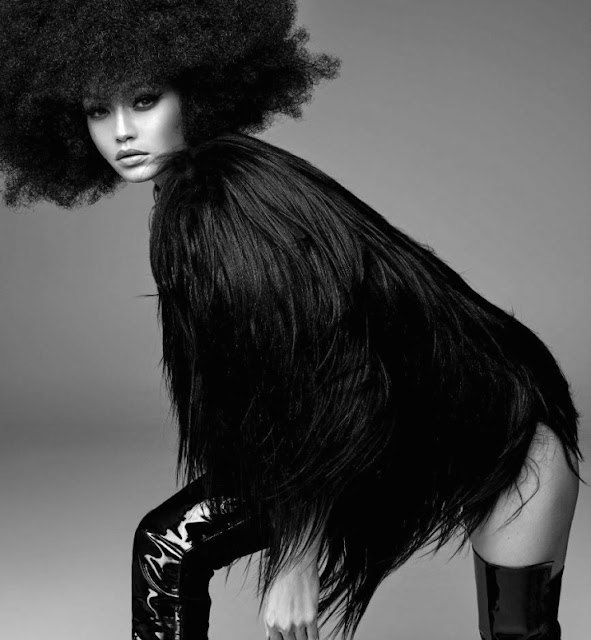 Gigi Hadid in Vogue Italia crazy fashion editorial