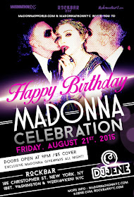 NYC: Friday, August 21 Madonna-thon/Birthday Party
