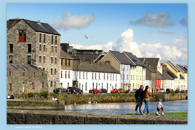 image from the bridge at the end of shop street, Galway