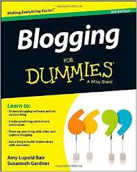 Blogging for dummies book