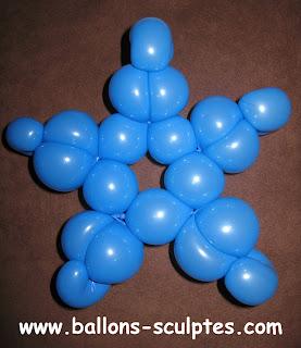 étoile en ballon
