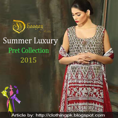 Dhaagay Summer Luxury Pret Formal Collection 2015