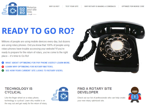 Rotary Phone Google Prank