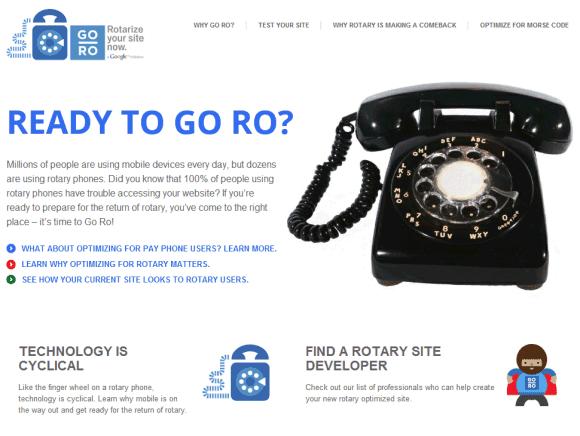 Rotary Phone Google Prank