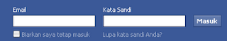 cara setting facebook login area