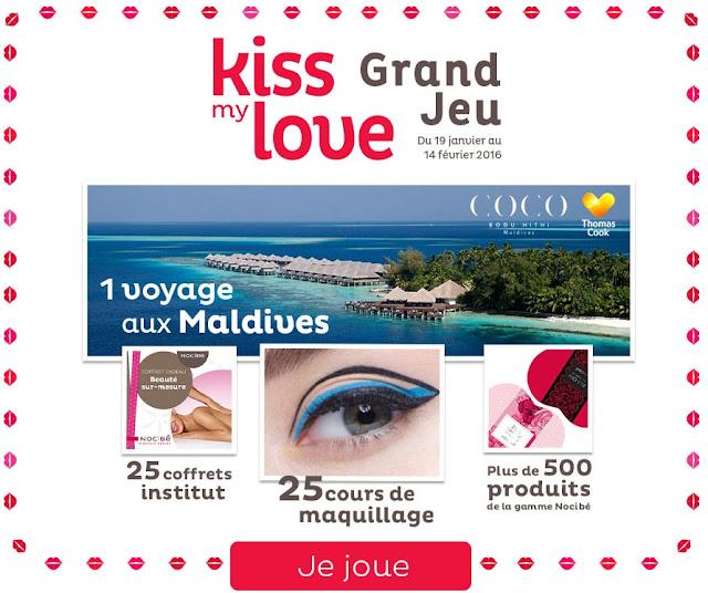 jeu concours Nocibé de Kiss My Love 651 Cadeaux à gagner !