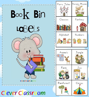 Book Bin Labels for the Classroom x 60