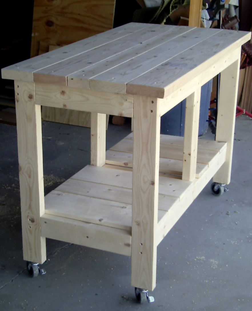 how to build a workbench out of 2x4