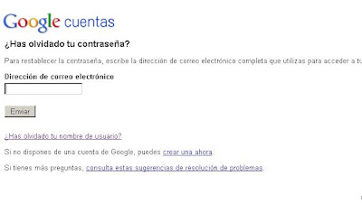 Recuperar clave olvidada de Gmail