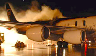 Lithium battery fire forces UPS cargo plane to make emergency landing in Philadelphia, 7 Feb. 2006