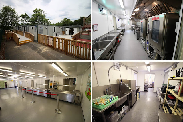 PKL temporary kitchen at Cavendish Primary School