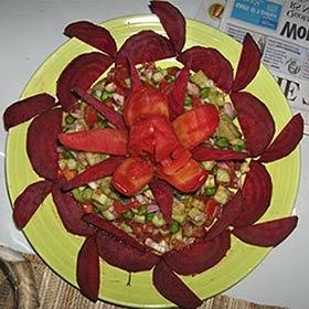 Decoração de pratos natalinos - saladas