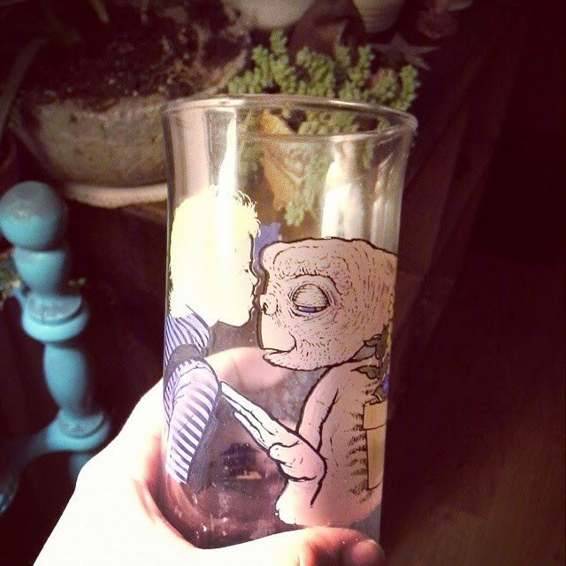 #thriftscorethursday Week 49 | Instagram user: vespaxsteph shows off this ET Movie Glass