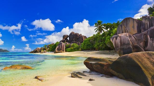 Seychelles Islands Corner HD Wallpaper