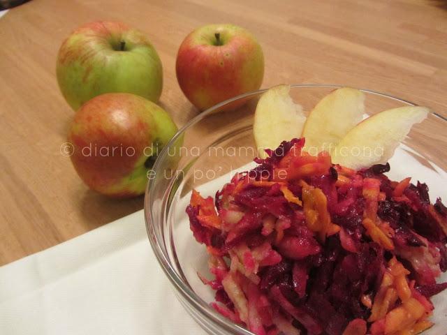 insalata rape rosse carota mela