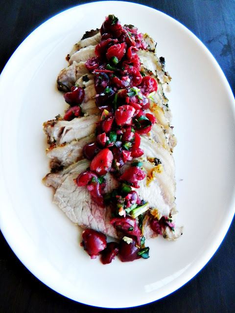 grilled pork tenderloin with cherry salsa