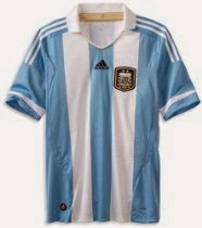 Argentina Home Authentic Soccer Jersey 13 Large