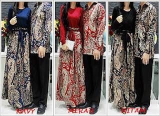 Foto Baju Batik Couple Long Dress