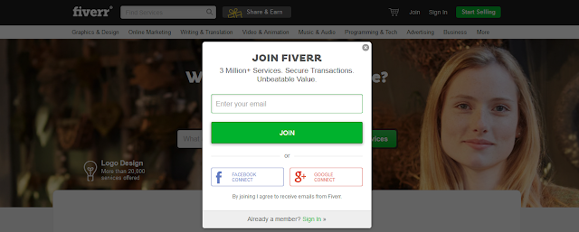 Create a Account On Fiverr To Make Money
