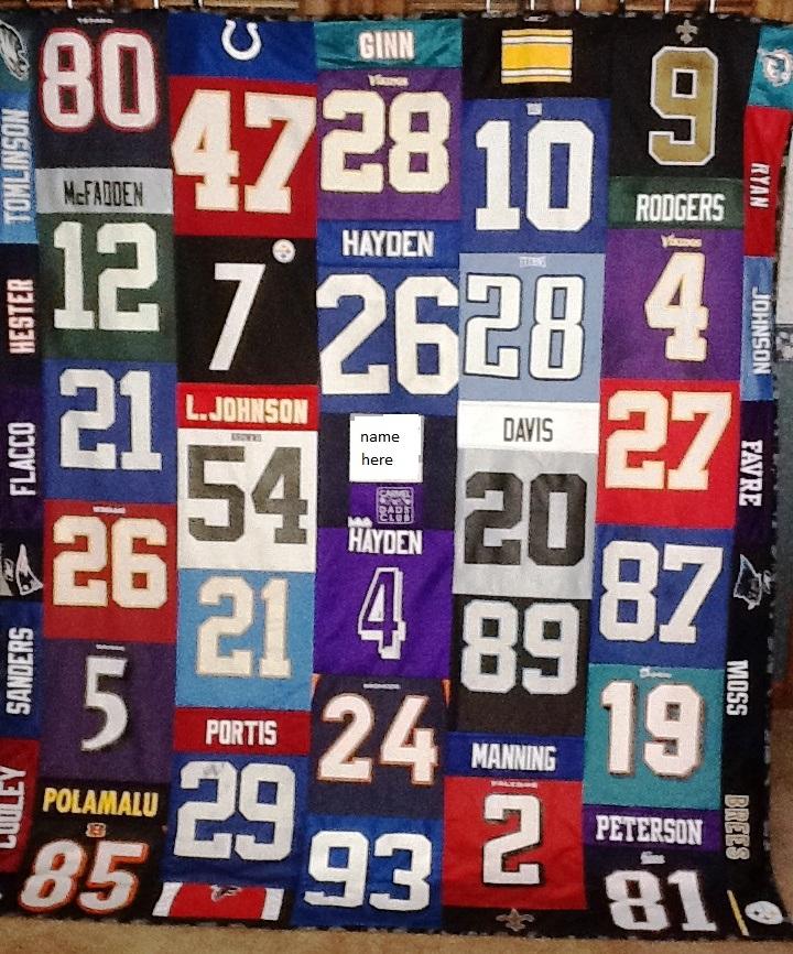 NFL Jersey Quilt   Debbie Lange Quilting