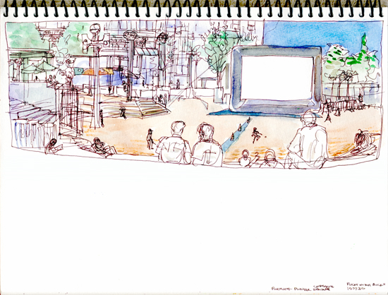 "Shiho Nakaza Portland Oregon Sketch watercolor pen ""Urban Sketchers"""