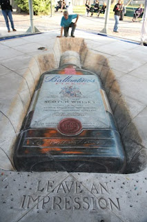 street marketing street art peinture au sol