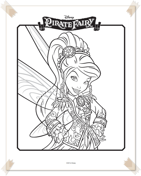 Ausmalbilder The Pirate Fairy Disney