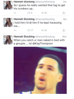 Hannah Stocking dumps Klay Thompson For Cheating On Twitter