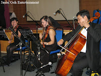 The String Trio performing live during the church wedding