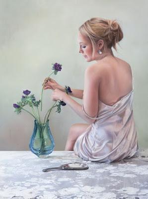 Retratos Pintados de Mujeres Pintados De Espalda