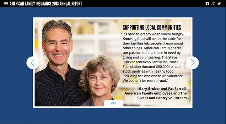 Gary Gruber & Pat Ferrell - American Family Insurance Annual Report 2013