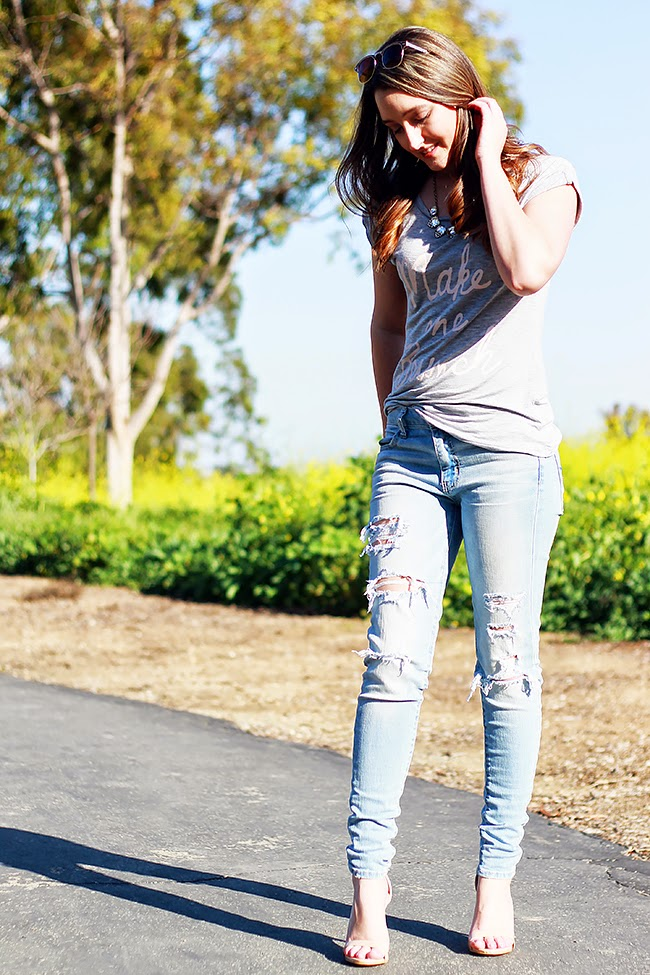 Distressed Denim in Summer
