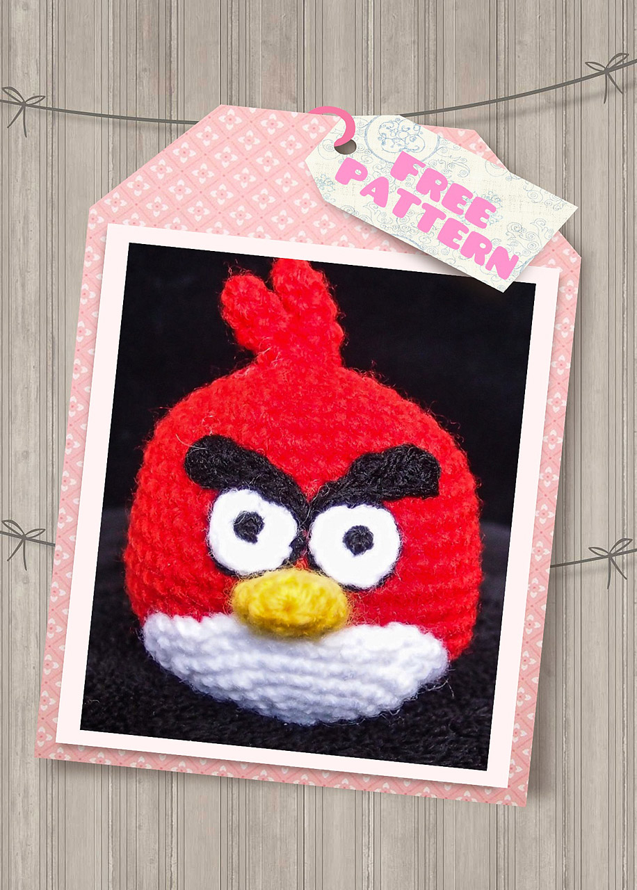 Black Angry Bird Amigurumi Pattern : Red Angry Bird Crochet Pattern (Free) ~ Snacksies ...