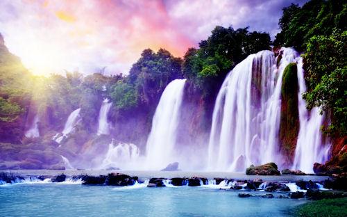Hermosas cascadas - Superb waterfall (1920x1200px)