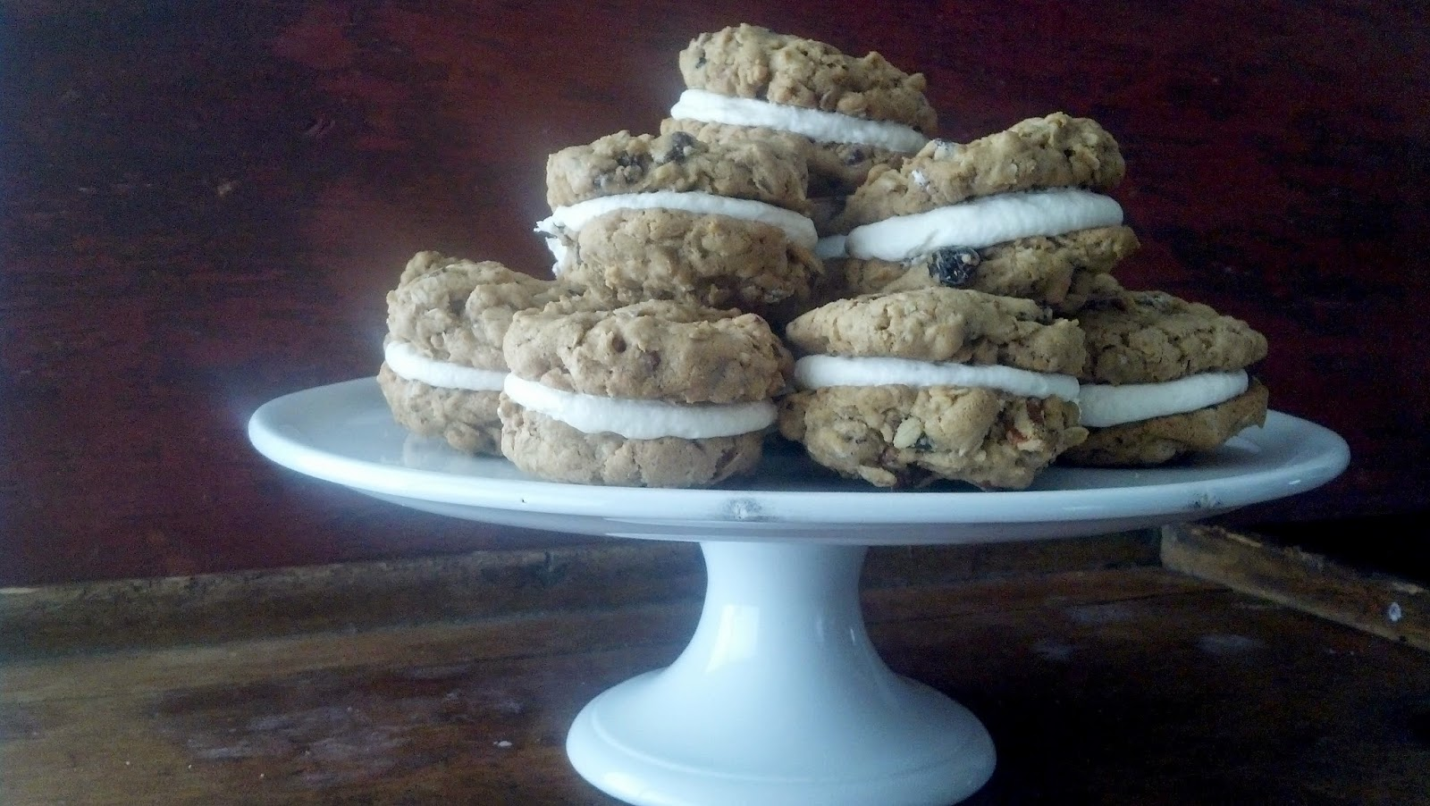 salted sugared spiced™: Chocolate Cherry Oatmeal Moon Pies