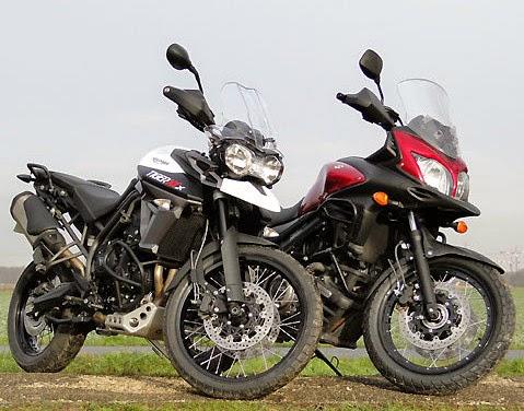 Duel XCX Vs Tiger 800 V-Strom 650 XT