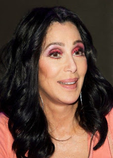 Cher in 2010 at a press conference for her film, 'Burlesque'