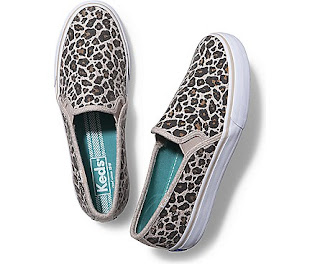 Leopard print slips on from Keds