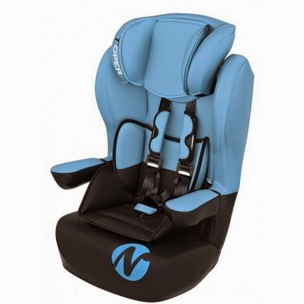 siège auto bleu