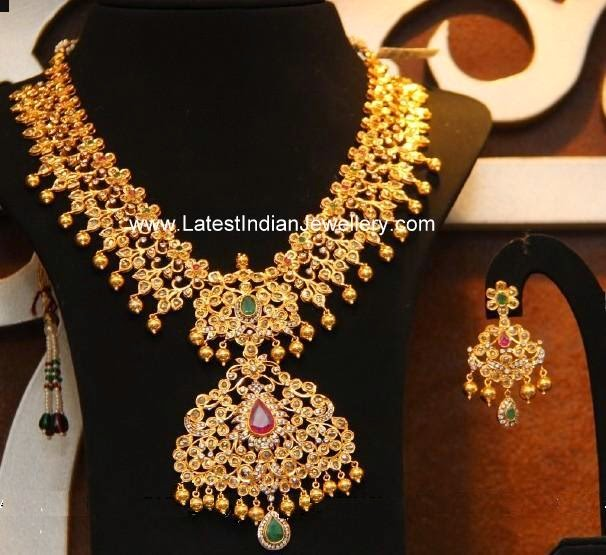 broad uncut diamond latest necklace