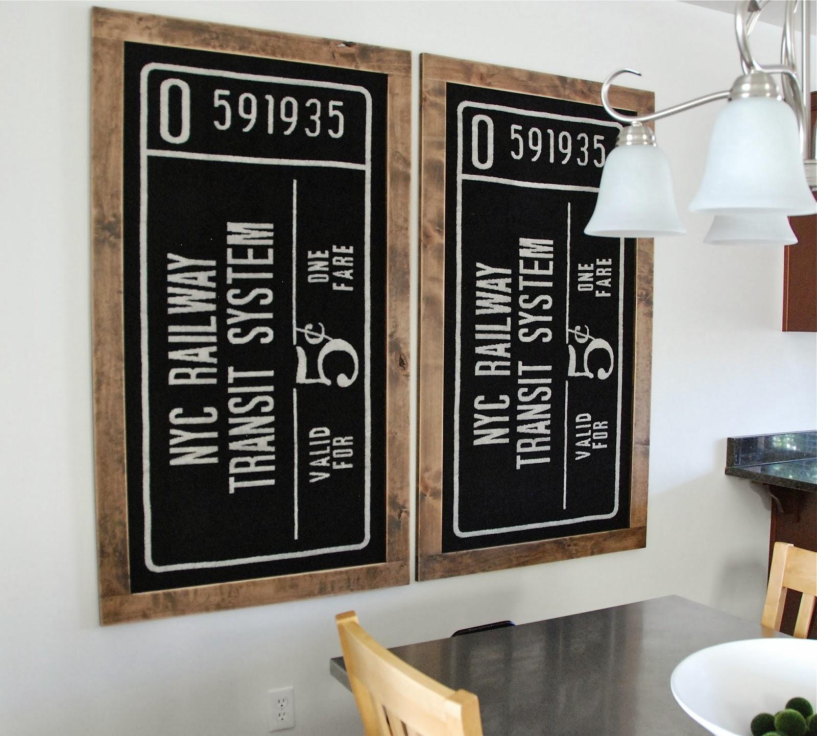 kreyv framed towels my dining room art