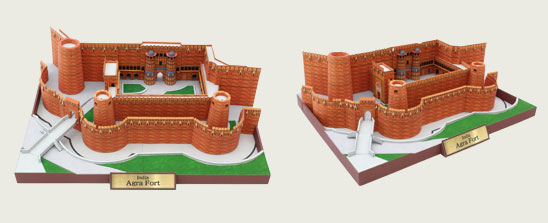Agra Fort Papercraft Model, India